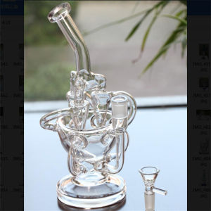 """11"""" Tall Handblown Glass Water Pipes Inline Perc Pipes pictures & photos"""