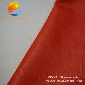 Perfect Effect Synthetic Leather of Garment Fac26 pictures & photos