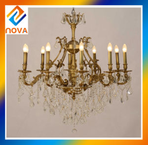 Crystal Bronze Chandelier Lamp for Room Decoration Pendent Lights pictures & photos