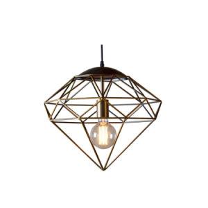 Fashion Creative Iron Wire Pendant Lamp Diamond Star Shape Pendant Light Oz-Al636 pictures & photos