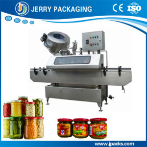Full Automatic Twist-off Cap Vacuumize / Vacuum Capping / Sealing / Screwing Machine pictures & photos