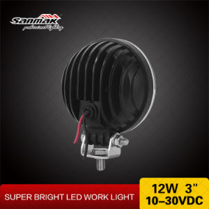 Best Selling Round 3′′12W LED Auto Work Lamps for Trucks pictures & photos