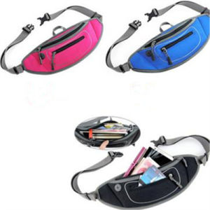 Mobile Phone Music Sports Men Personal Anti-Theft Pockets All-Match Waterproof Pocket Zipper Diving Waist Bag pictures & photos