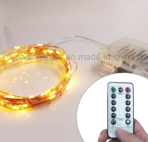Remote Control Warm White Copper Silver Wirefairy Lights Waterproof Ultra Thin Fairy Light Set for Home Bedroom Wedding Ceremony Decoration pictures & photos