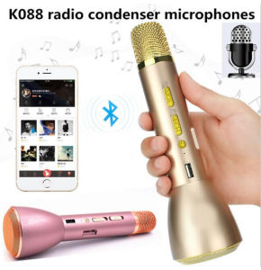 Mini Portable Bluetooth Wireless Condenser Karaoke Microphone K088 pictures & photos