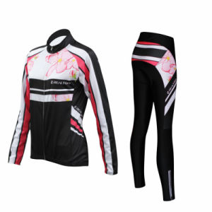 Autumn Spring Breathable Women′s Long Sleeve Tights Pants Cycling Jersey pictures & photos