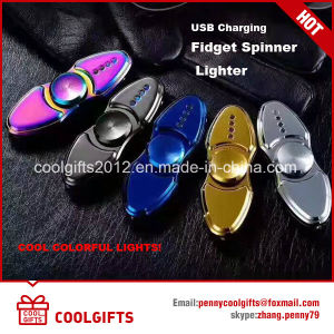 New Gift Electronic USB Charged Lighter Hand Spinner Lighter pictures & photos