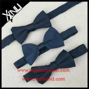 Black Color Silk Woven Hardware Bow Ties for Men pictures & photos