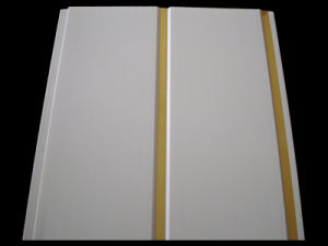 (GE-06) Golden Strip PVC Panel pictures & photos