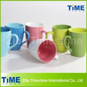 Stoneware Double Color Glazed Mug pictures & photos