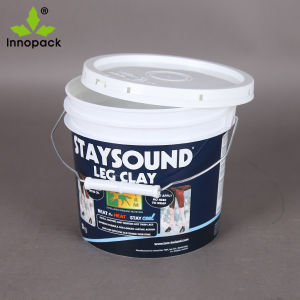 Iml Paint 1 Gallon Plastic Pail with Metal Handle and Tamper Evident Lid pictures & photos
