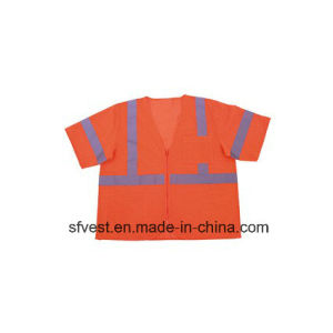 100% Polyester Safety Reflective Vest with ANSI/Isea