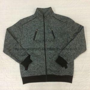 Men′s Wear Loop Gagt Knit Chevron Fleece Stand Collar Coat in Sport Clothes Fw-8759 pictures & photos