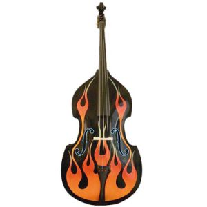 Flame Pattern Double Bass (DB-03) pictures & photos