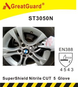 Supershield Nitrile Cut 5 Glove (ST3050N) pictures & photos