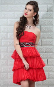 Red Short Young Girl Cocktail Dress