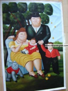 Botero Oil Painting On Canvas (T40)