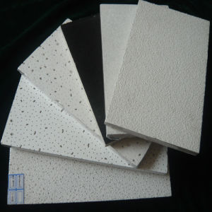 2′*2′ Decorative Acoustic Mineral Wool False Ceiling Tile (Sandy, Fine Fissured etc) pictures & photos