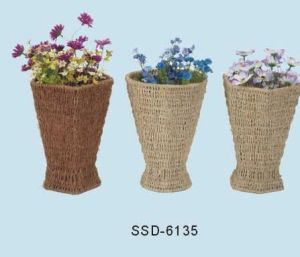 Baskets for Storage Made From Seagrass in Natural Color (SSD-6135)