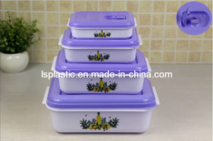 Set 4 PCS Microwave Steamer Plastic Food Containers (LS-1017)