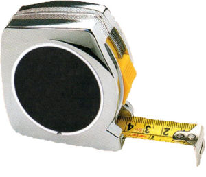 Chrome Plated Case 5m/19mm Tape Measure (WAB01016)