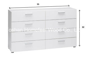 Modern White 4+4 Storage Drawer Bedroom Dresser (HC08) pictures & photos
