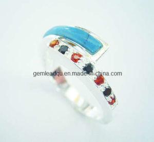 925 Silver Rings Semi-Precious Stone Jewelry (008)
