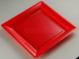 Easylife S071722 7′′ (17cm) Square Plate PS Red pictures & photos
