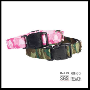 Pink Camouflage Print Pet Dog Collars with Buckle pictures & photos