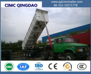 Cimc 35cbm 3axle Tipper Semi-Trailer for Sale Truck Chassis pictures & photos