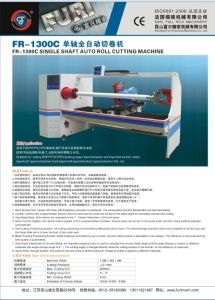Single Shaft Auto Tape Roll Cutting Machine/Tape Roll Slitter (FR-1300C ) pictures & photos