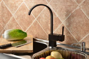 High Quality Single Lever Brass Black Kitchen Faucet Tap pictures & photos