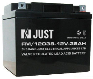 12V 38ah Storage Battery, VRLA Battery, UPS Battery pictures & photos