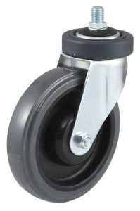 Swivel PU Shopping Trolley Caster Wheel pictures & photos