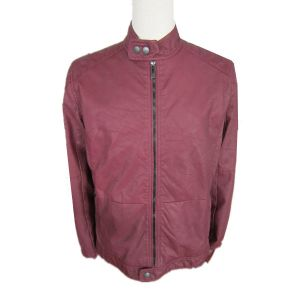 Competitive Price, New Designed, Mens Red Leather Jacket