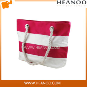Ladies Fashion Shoulder Canvas Promotional Totes Gift Shopping Beach Bag pictures & photos