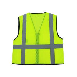 Hi-Viz Mesh Reflective Safety Vest with Zipper pictures & photos