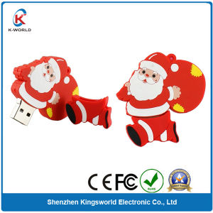 PVC Christmas USB Flash Drives for Children (KW-0207)