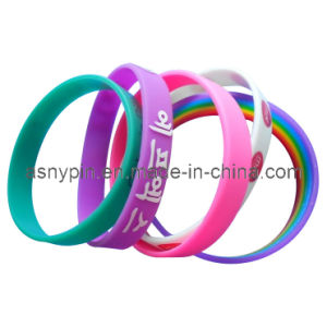 Customized Silicone Wristband Bracelet (ASNY-PB-TM-110) pictures & photos
