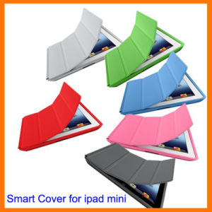 Polyurethane Magnetic Stand Smart Cover for iPad Mini (OT-208)