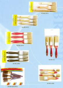 Paint Brush Set (PAINTBRUSH TAPERED FILAMENT, FLAT BRUSH) pictures & photos