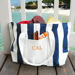 2014 Striped Cotton Canvas Tote Beach Bag & Gift Bag pictures & photos