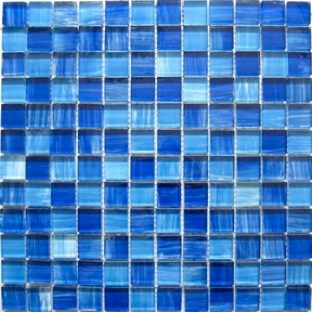 Blue Crystal Glass Mosaic Tiles pictures & photos