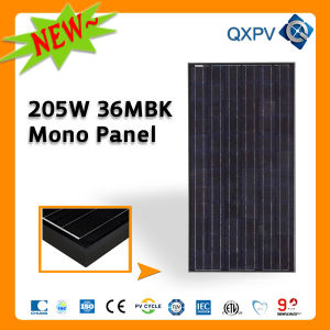 36V 205W Black Mono PV Panel pictures & photos