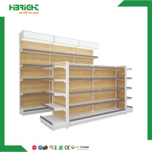 Single Sided Gondola Shelving for Grocery Store pictures & photos