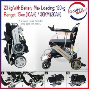 23/30kg Lightweight Mute Foldable Powerful Electric Wheelchair pictures & photos