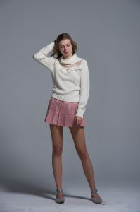 Ladies Knitted Sweater Acrylic Fashion White Autumn Winter Women Comfortable Lace pictures & photos