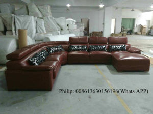 Marnoon Color U Shape Genuine Leather Sofa (301) pictures & photos