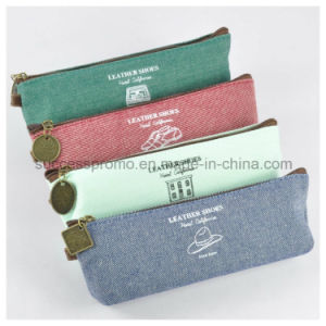 Canvas Pen Case, Pencil Bag with Customized Logo pictures & photos