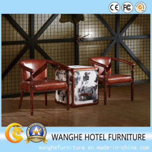 American Modern Design Genuine Leather Living Room Furniture Set pictures & photos